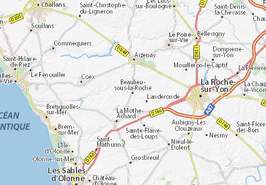 Mapa Plano Beaulieu-sous-la-Roche