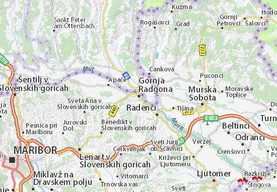 Mapas-Planos Gornja Radgona