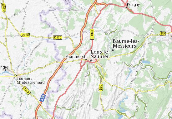 Montmorot Map