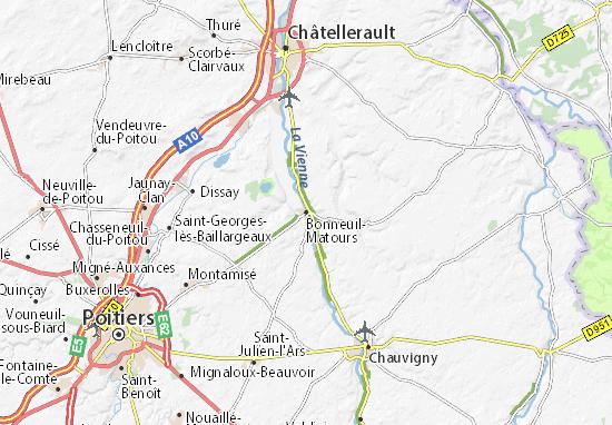 Bonneuil-Matours Map