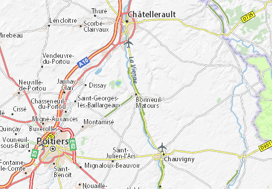 Mapa Plano Bonneuil-Matours