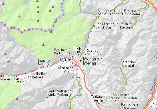 Karte Stadtplan Tirolo
