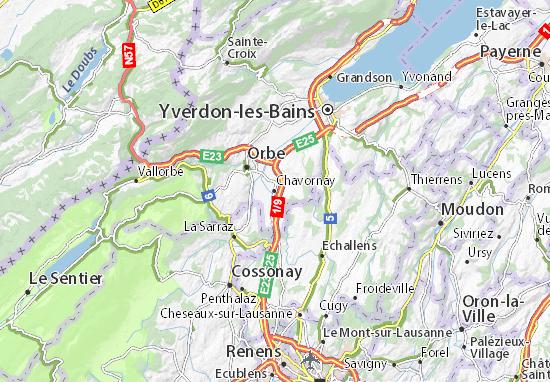 Karte Stadtplan Chavornay