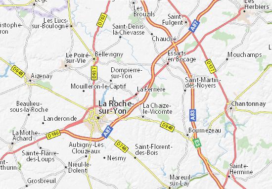 La Ferrière Map