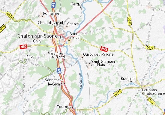 Carte-Plan Ouroux-sur-Saône