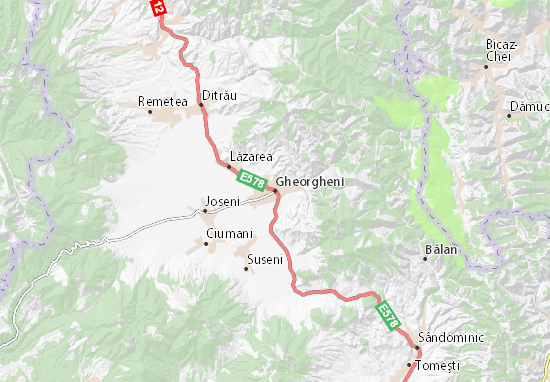 Mapa Plano Gheorgheni