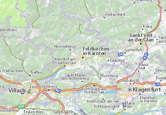 Mapa Plano Feldkirchen in Kärnten