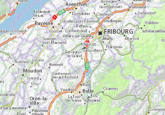 Mapas-Planos Farvagny