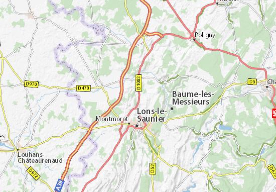 Carte-Plan Plainoiseau