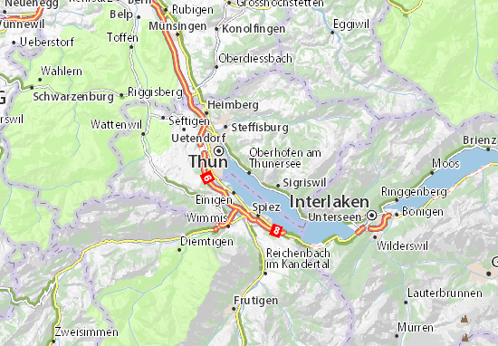 Oberhofen am Thunersee Map