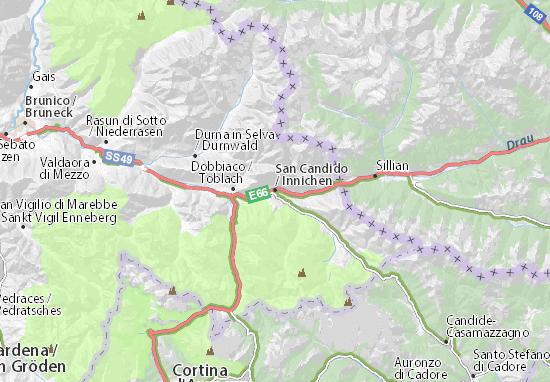 Karte Stadtplan Innichen