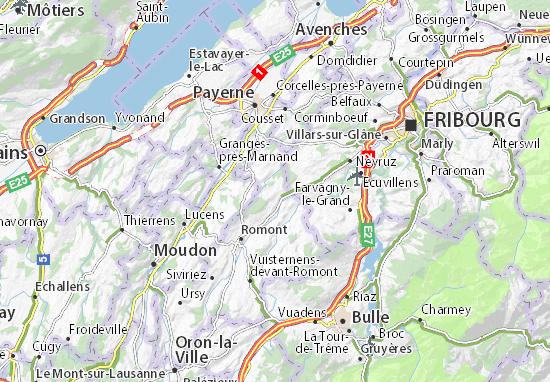 Freiburg Schweiz Karte.Karte Stadtplan Villarimboud Viamichelin