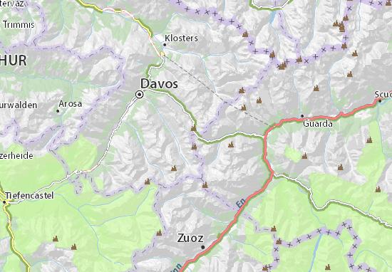 Flüelapass Map: Detailed maps for the city of Flüelapass - ViaMichelin