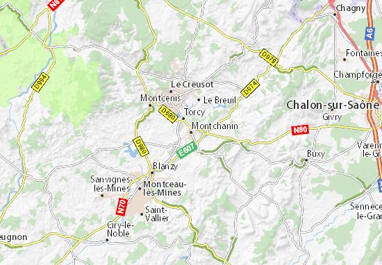 Mapa Plano Montchanin