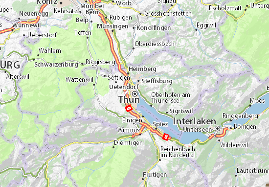 Carte-Plan Thun