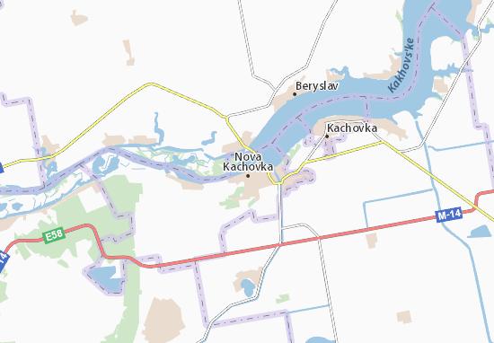 Kaart Plattegrond Nova Kachovka