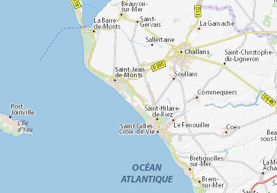 saint jean de monts carte Carte détaillée Orouet   plan Orouet   ViaMichelin