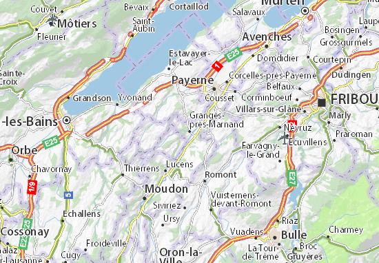Carte-Plan Granges-près-Marnand