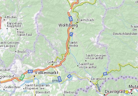 Kaart Plattegrond Sankt Andrä