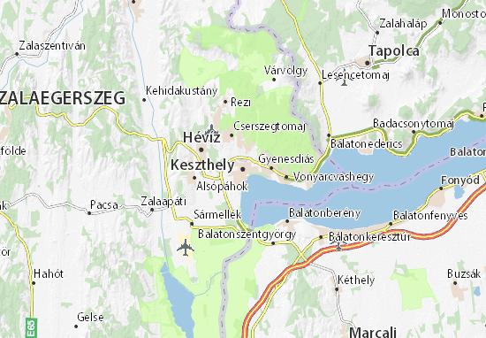 Mapa Plano Keszthely