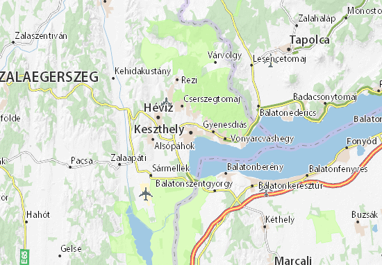 Mappe-Piantine Keszthely