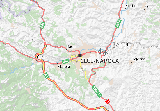 Karte Stadtplan Cluj-Napoca