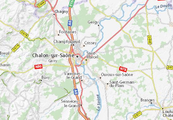 Carte-Plan Saint-Marcel