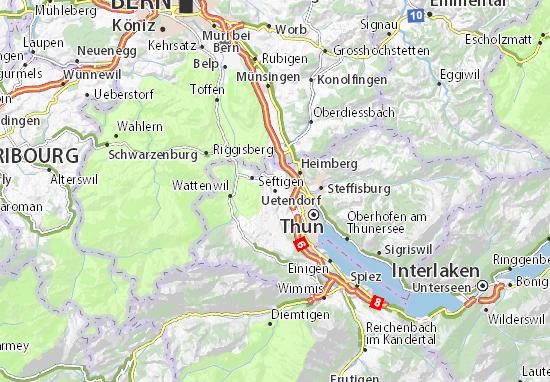 Carte-Plan Uetendorf