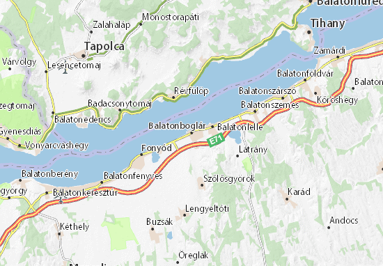 Balatonboglár Map