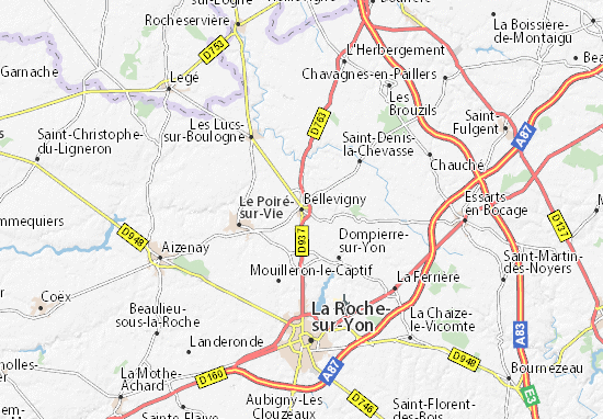 Mapa Plano Bellevigny