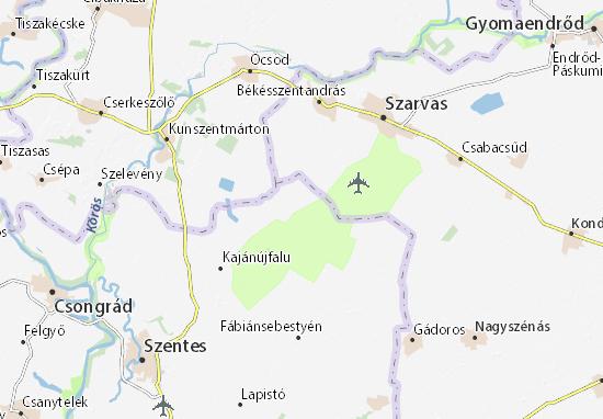 Cserebökény Map