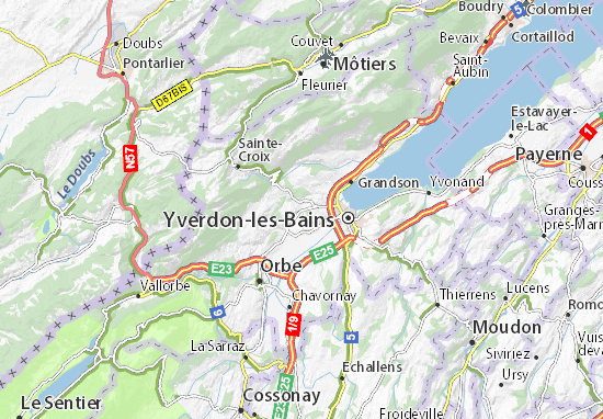 Carte-Plan Villars-sous-Champvent