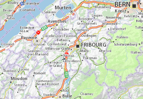 Carte-Plan Villars-sur-Glâne