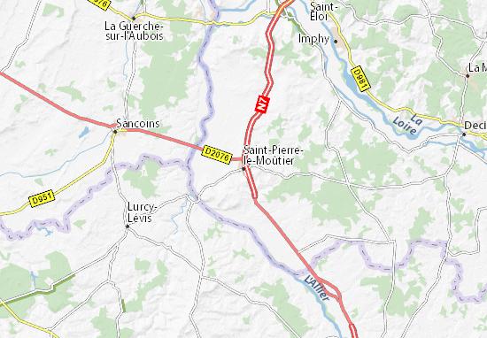 Mapa Plano Saint-Pierre-le-Moûtier