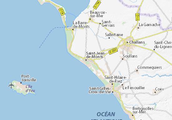Carte-Plan Saint-Jean-de-Monts