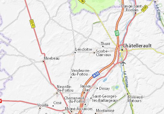 Kaart van Gironde- plattegrond van Gironde- ViaMichelin