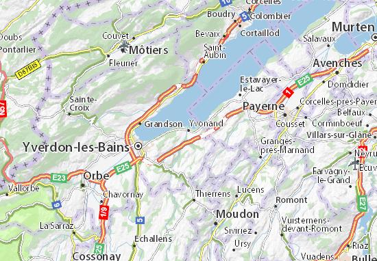 Karte Stadtplan Yvonand