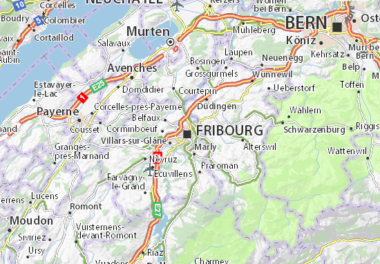 Fribourg Map