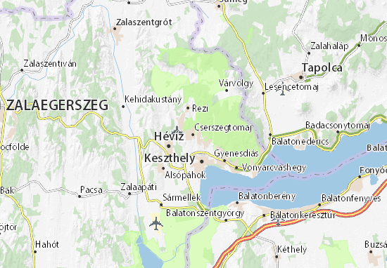 Cserszegtomaj Map