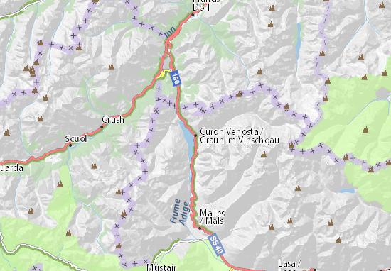 Mapa Plano Graun im Vinschgau