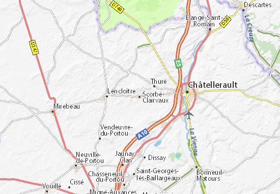 Mapa Plano Scorbé-Clairvaux
