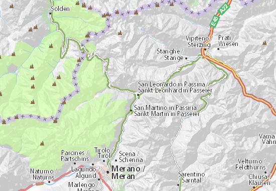 Mapa Plano Sankt Leonhard in Passeier