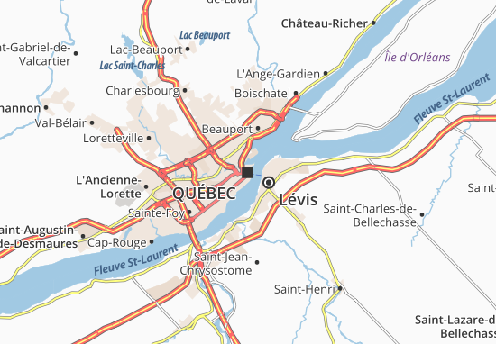 Map of Qu bec Michelin Qu bec map ViaMichelin – Quebec Tourist Attractions Map