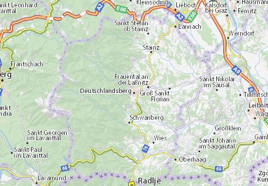 Mapas-Planos Deutschlandsberg