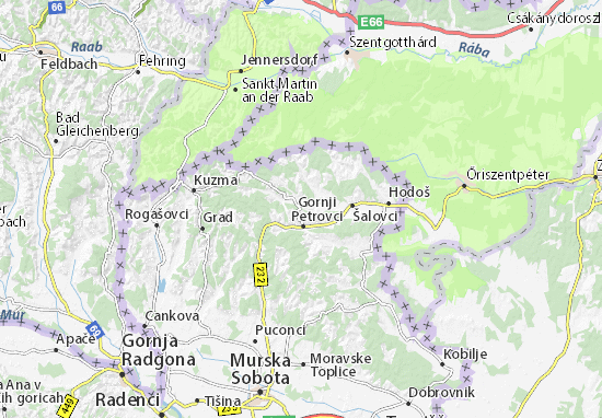Mapa Plano Gornji Petrovci