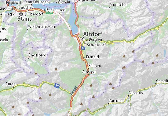 Erstfeld Map