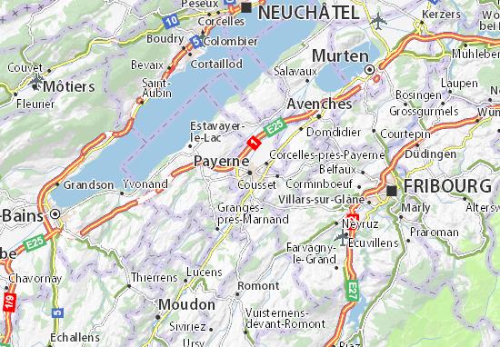 Mapa Plano Payerne