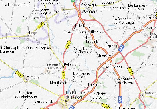 Mappe-Piantine Saint-Denis-la-Chevasse