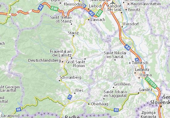 Carte-Plan Groß Sankt Florian