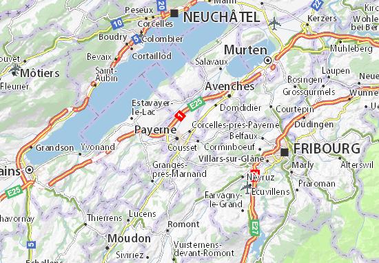 Carte-Plan Corcelles-près-Payerne